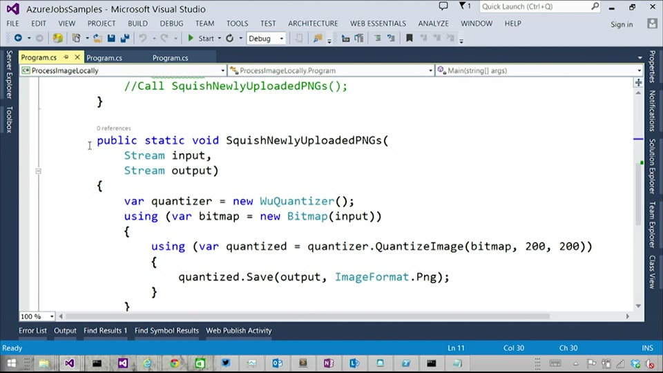 Azure WebJobs 109 - Advanced WebJobs SDK Programming