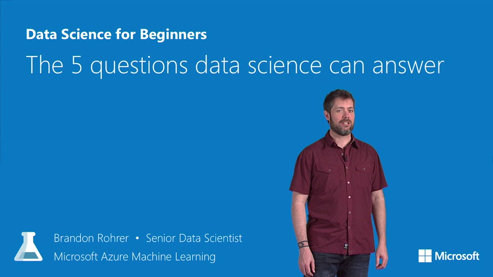 Data Science for Beginners video 1: The 5 questions that data science can answer
