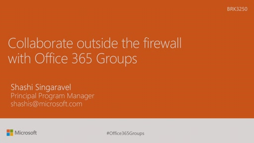 Collaborate outside the firewall with Office 365 Groups
