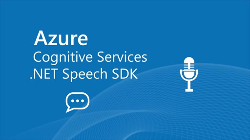 How to use the Azure Cognitive Services .NET Speech SDK for recognition