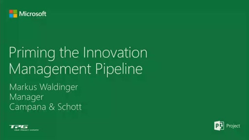 Project Online: Priming the Innovation Management Pipeline