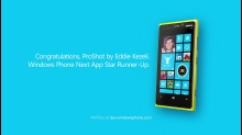 Windows Phone Next App Star Runner Up: ProShot by Eddie Kezeli