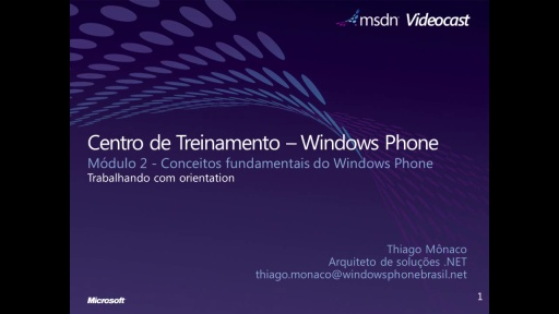 Windows Phone 7 - Trabalhando com Orientation