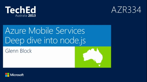 Azure Mobile Services Deep Dive into Node.js Scripting