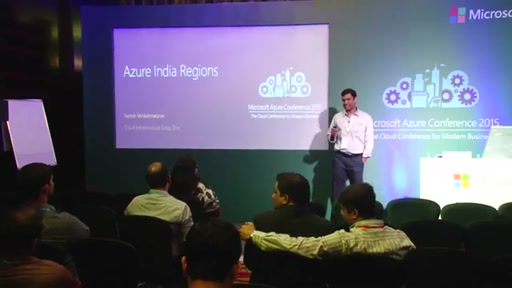 Day 1 : Chalk Talk Meeting Room 4- Azure Data Centers in India