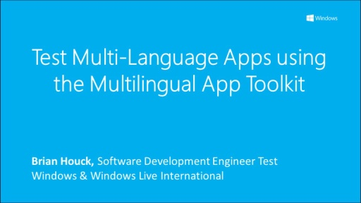 Test Multi-language apps using the Multilingual App Toolkit