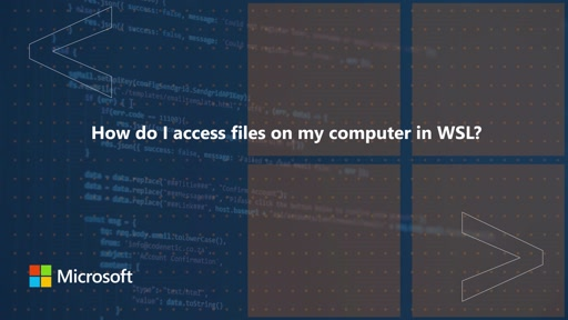 How do I access files on my computer in WSL? | One Dev Question