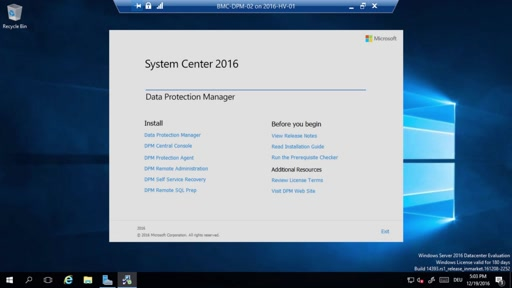 Video Serie: Sichern mit Data Protection Manager 2016 - Installation