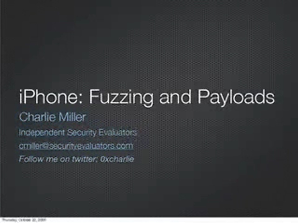 iPhone SMS Hacking with a Touch About Payloads