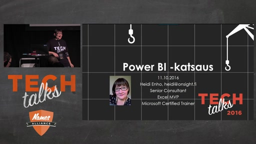 Tech Talks 2016 Plantronics Stage Power BI - katsaus