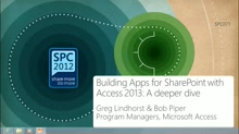 Building Apps for SharePoint with Access 2013: A deeper dive