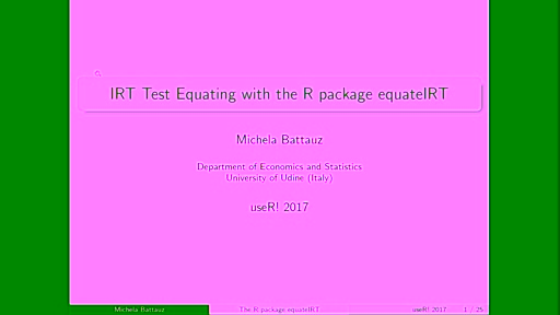 IRT test equating with the R package equateIRT