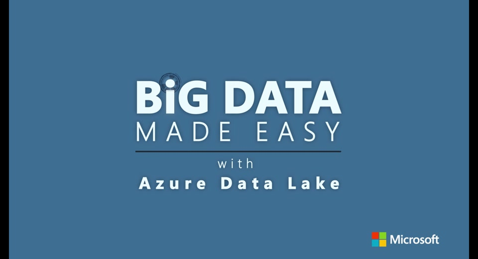 Organize and Discover Big Data in Azure Data Lake with Azure Data Catalog