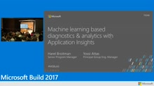 Machine learning based diagnostics and analytics with Application Insights