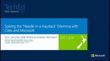 Solving the 'Needle in a Haystack' Dilemma with Citrix and Microsoft