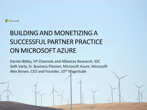 Building and Monetizing a Successful Partner Practice on Microsoft Azure