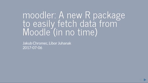 moodler: A new R package to easily fetch data from Moodle