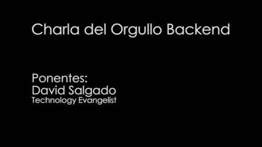 TechDay 2012. Charla del Orgullo Backend