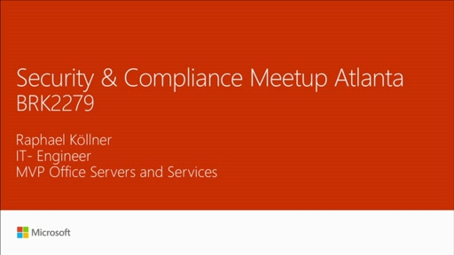 Meetup: security and compliance