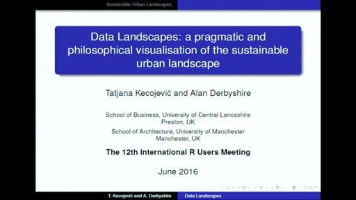 Data Landscapes: a pragmatic and philosophical visualisation of the sustainable urban landscape