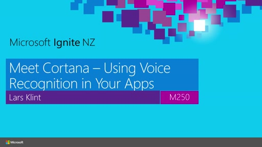 Meet Cortana - Using Voice Recognition in Your Apps