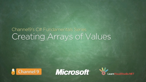 Creating Arrays of Values - 09