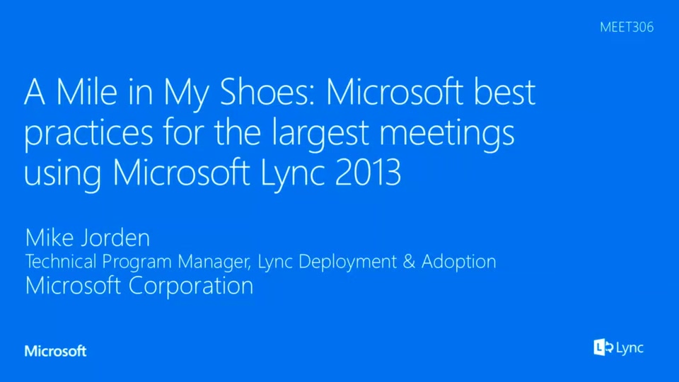 All about Meetings in Skype for Business | Microsoft Ignite