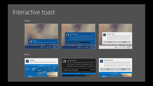 Windows 10: Toast Notifications and the Action Center