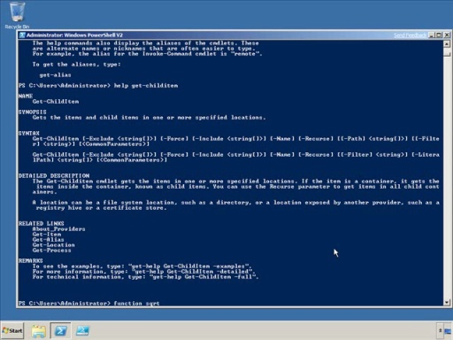 Windows PowerShell V2 Functions