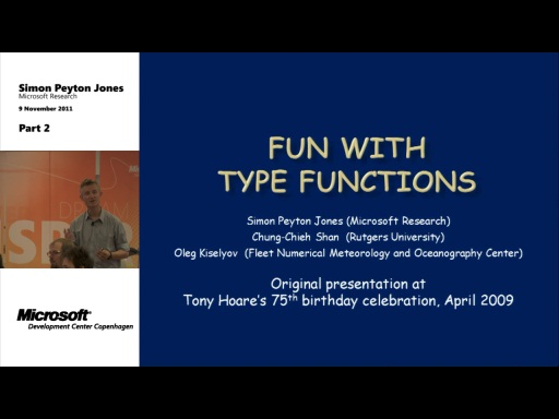 MDCC TechTalk - Fun with type functions