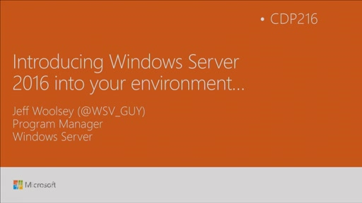 Introduce Windows Server 2016 into your environment!
