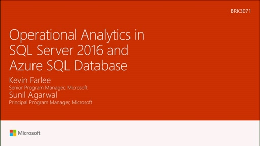 Enable operational analytics in SQL Server 2016 and Azure SQL Database