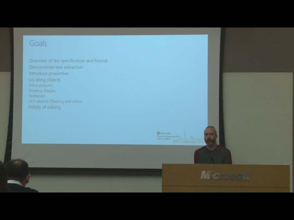 Word Binary File Format Overview - Shanghai Interoperability Seminar 2013