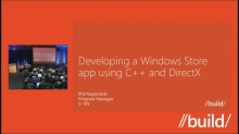 Developing a Windows Store app using C++ and DirectX