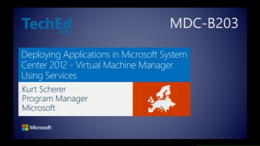 Deploying Applications in Microsoft System Center 2012 - Virtual Machine Manager Using Services