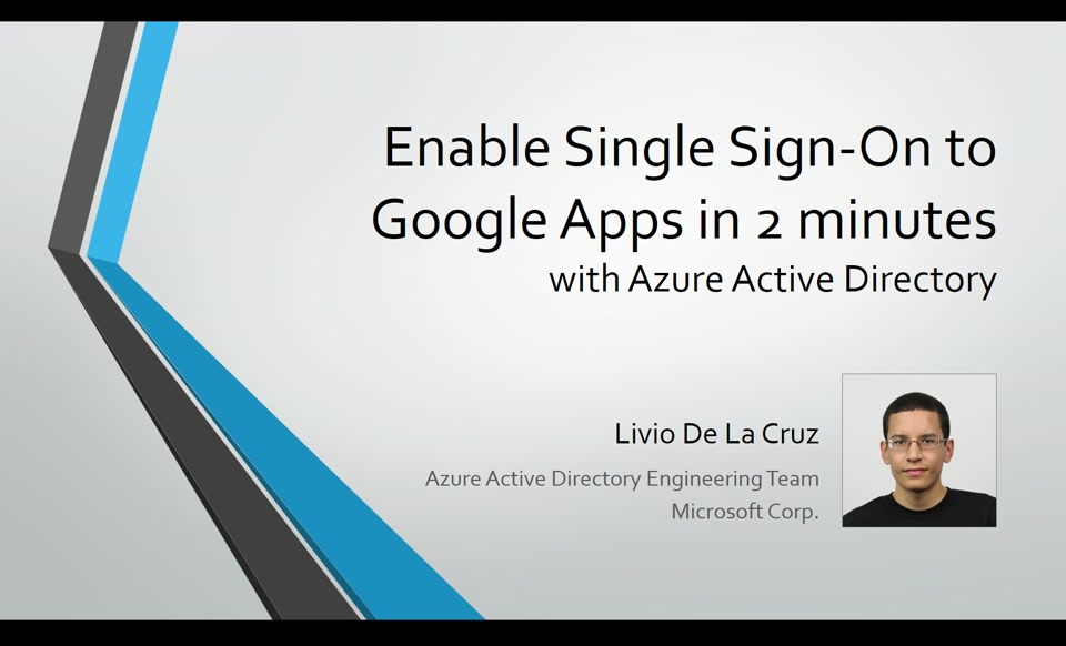 Enable single sign-on to Google Apps in 2 minutes with Azure AD