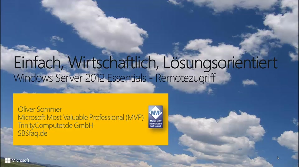 Windows Server 2012 Essentials Remotezugriff