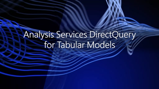 Analysis Services DirectQuery for Tabular models