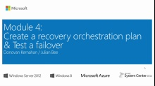 (Module 4) Create a Recovery Orchestration Plan & Testing a Failover