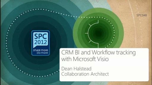 CRM BI and Workflow tracking with Microsoft Visio