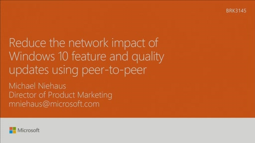 Reduce the network impact of Windows 10 feature and quality updates using peer-to-peer tech