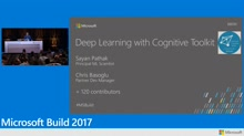 Deep learning with Microsoft Cognitive Toolkit