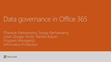 Take control of your data with intelligent data governance in Office 365