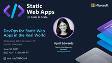 DevOps for Static Web Apps in the Real World with April Edwards
