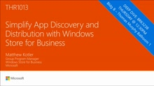Simplify app discovery and distribution with Windows Store for Business