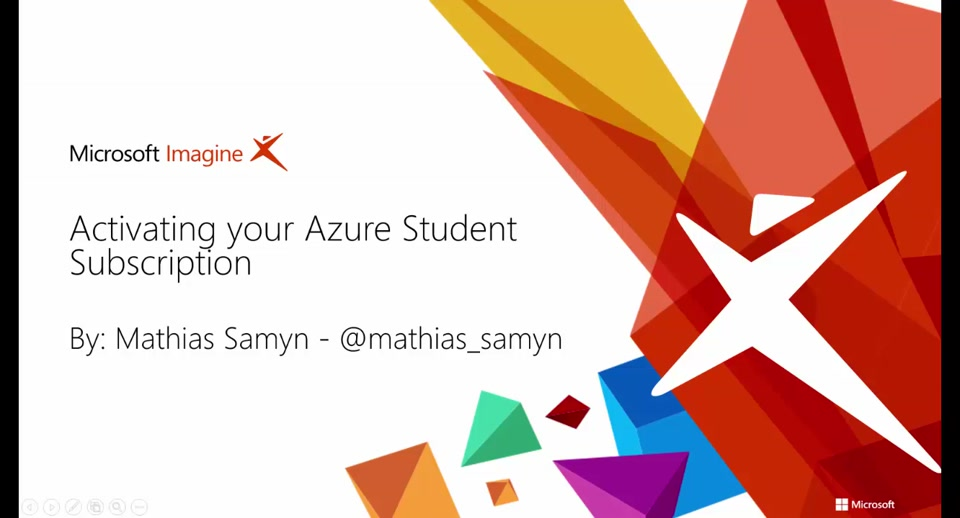 Activating your Azure Student Submission (NL)