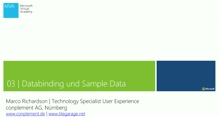 03 | Data Binding und Sample Data