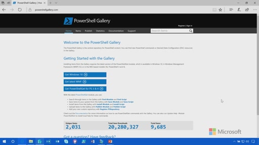 Demo: Overview of the PowerShell Gallery