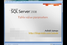 SQL Server 2008 - Table valued parameters