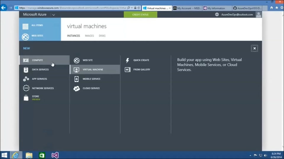 Azure DevOps with Visual Studio Online (Part 2) Creating Dev/Test VMs in Azure